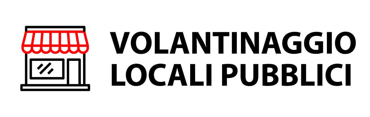 volantinaggio locali pubblici